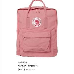 Säljer en fjällräven ryggsäck som aldrig använts, fin rosa färg ordinarie pris är 961kr säljer för 450 inklusive frakt, pris kan annars diskuteras💕💕💕