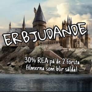 Säljer flera Harry Potter-filmer på min profil till bra pris och kvalite! Alla filmer ligger just nu på 30% REA och kommer alltså söljas för 69kr! OBS! Säljer endast 2 filmer till detta kanonpris så det är först till kvarn att köpa för att få detta erbjudande!