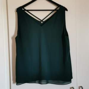 A dark green top bought from Finland, Seppälä when It exsisted. Very comfy, but never worn. Enough space in the bust for a C cup. Flowy and perfect for summer 😊