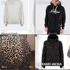 Grå oversize hoodie bikbok S, Norrlandhoodie S, Leopard bootcut byxor xs, dbrand jacka s