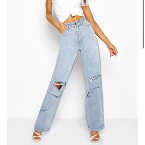 Säljer mina alldeles för stora fina bohoo jeans i modellen tall i storlek 36. Endast använda säljer pga att ja inte kunde skicka tillbaka dem. Kan mötas i Stockholm.