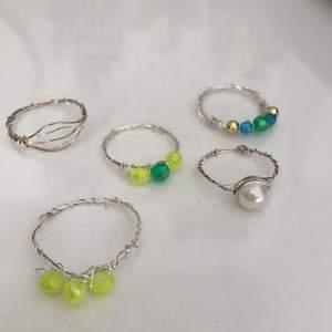Hemgjorda ringar. Äkta silver. Bra kvalite! Frakt ingår inte! Kan också göra på beställning