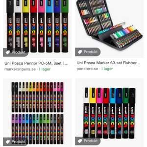 Söker posca pennor eller liknande pennor!! Till rimligt pris
