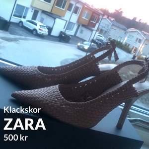 Klackskor från Zara i storlek 36. Endast använda 1 gång. Klackhöjd: 8-10cm, är inte helt hundra på klackhöjden men den är antingen 8,9 elr 10cm.