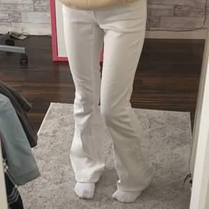 """säljer ett par vita jeans från """"Vila"""" dom är i nyskick!💖 399kr i nypris och säljer nu för 100kr!💗"""
