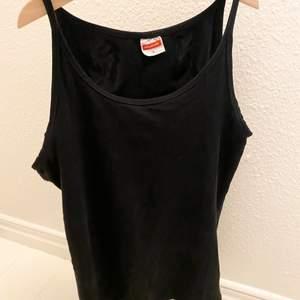 Ganska långt svart basic snyggt linne/top, liten i storleken. Aldrig använt :)