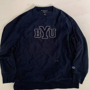 Sweatshirt jag har köpt second hand! Har tyvärr spillt blekningsmedel på den därav märket på framsidan (går säkert att fixa till) Skitsnygg till hösten🦋