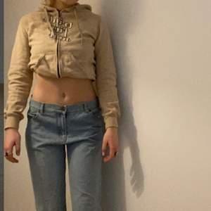 Snygg beige/brun zipper kofta, uppvikt på bilderna🤍