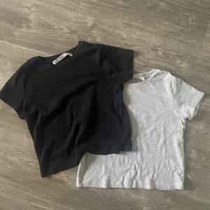 2-pack basic t-shirt o svart och grått. I jättegott skick. Frakt tillkommer.⚡️⚡️