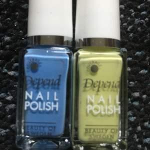 💙Två nagellack, den gröna är testad den blåa är oanvänd, köp en eller båda. 1=20kr 2=30kr💙