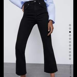 Aldrig använda pga fel storlek. Cropped flare jeans från Zara i storlek 40. Köpte för 259