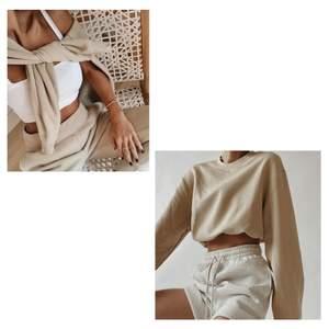 Superfin oversized sweatshirt! Perfekt basplagg att ha i garderoben!❤️ säljer då jag rensar garderoben och denna knappast kommit till användning. Den är använd max två gånger och är därför som ny😋 första bilderna är lånade:) frakt tillkommer❤️