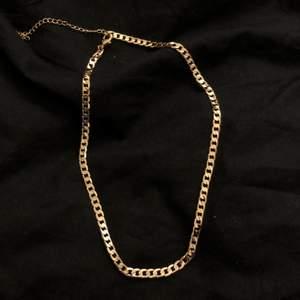 Jättefint guldigt halsband från H&M, aldrig fått användning för det därav nyskick.