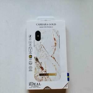 iPhone X mobilskal, Carrara Gold, Ideal of sweden. Aldrig använd, levereras i orginalförpackning. FRAKT INGÅR!