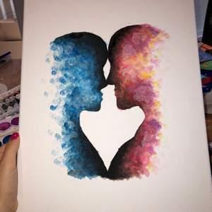 Hade någon varit intresserad av att köpa en tavla jag själv målat? Vitt canvas med akrylfärg. Köparen står för frakten ⭐️