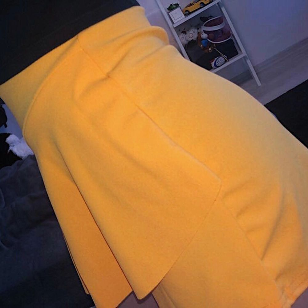 Orange Frill Front Skort från Pretty Little Thing storlek UK 6/EU 34 ✨ Väldigt stretchig och aldrig använd, endast provad! . Kjolar.