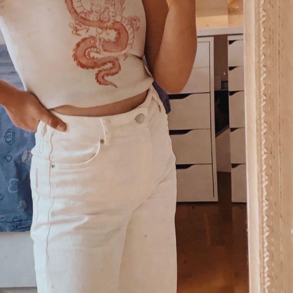Vita bagy jeans. Jeans & Byxor.