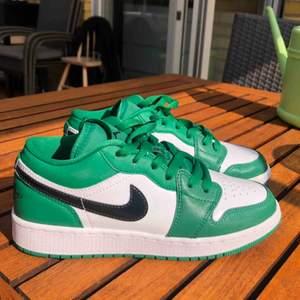 Helt oanvända Nike AIR 1 LOW Jordan! Endast testad ett par gånger. Lite klister från paketet där fram på skon men som är enkelt att tvätta bort. Slut i alla storlekar på hemsidan så passa på! Köparen står för frakt BUDA!  ( ligger på 1000kr just nu)