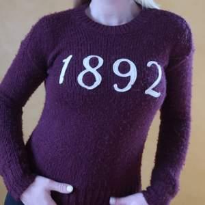Supermysig tröja i vinröd på gränsen till lila från Abercombie and Fitch! Sparsamt använd, mycket bra kvalite.💓