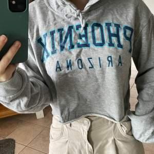 Croppad hoodie från bikbok. Använd ett fåtfal gånger, säljer pågrund av att den inte kommer till användning.
