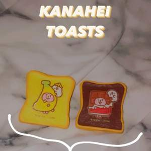 """❌Den gula är såld❌ Säljer dessa superfina toast-squishys från det kända märkes ibloom. De är i bra skick och har motiv av """"Kanahei"""". Om man köper från Buniisquish ingår det alltid extras (ex. klistermärken), tackkort och postbevis. Undrar du vad squishys är? - dm:a mig så förklarar jag 💕"""