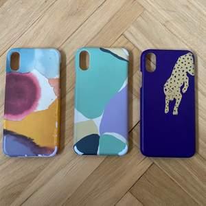 Super fina mobil skal från & Other Stories!!! För iPhone X eller XS. De två med flera färger har färgen slitits bort litegrann. 45 kr inklusive frakt. 100 kr för alla tre 📸📸