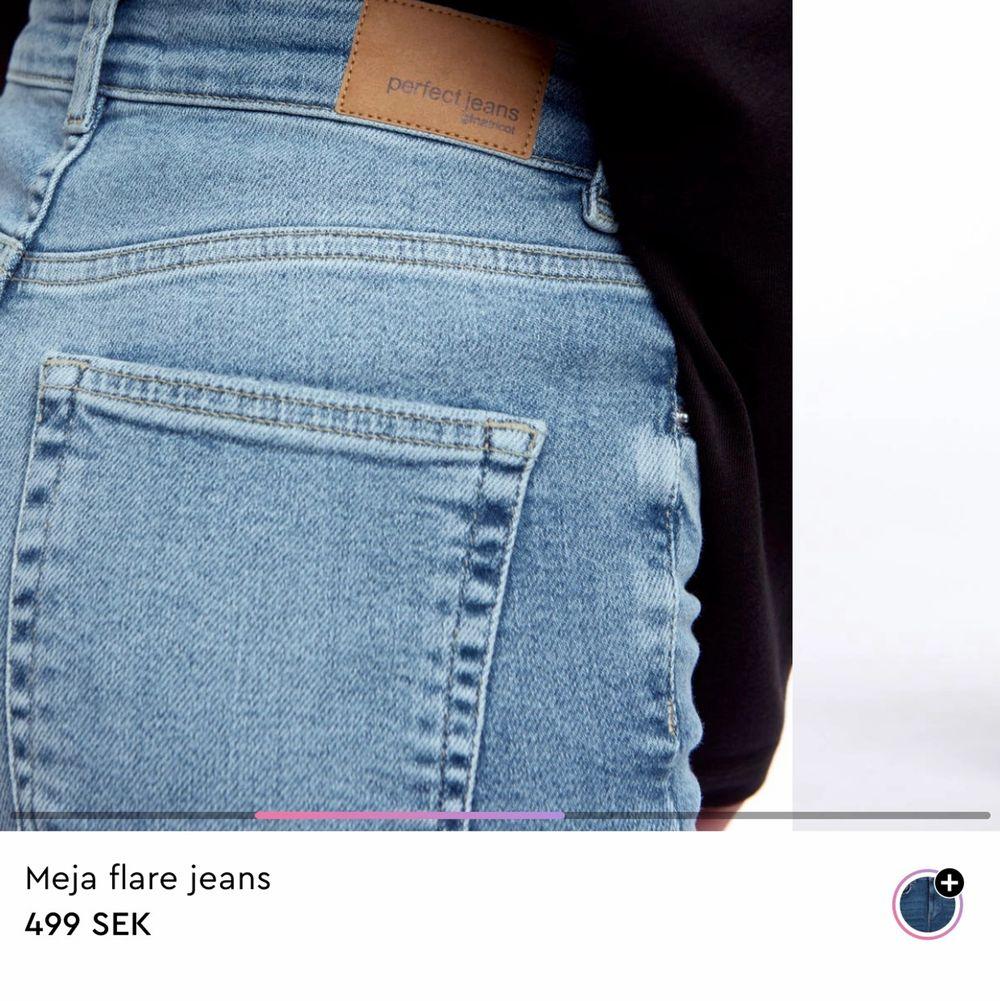 Säljer dessa snygga jeans från Gina använda 1-2 gånger. Nypris 499 kr. Jeans & Byxor.