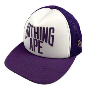 Authentic a bating Ape trucker cap in purple. Condition: New