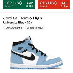 Hej jag söker Några av dessa Jordans i 37-38. Kontakta gärna mig om ni har några av dessa:) Helst inte för dyrt:)