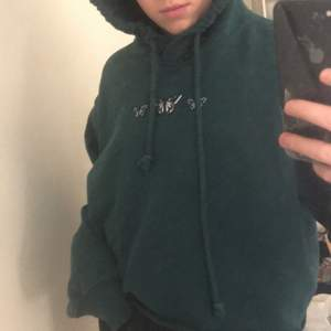 Skit snygg grön hoodie, från hollister i storlek xs, 89 kr plus frakt