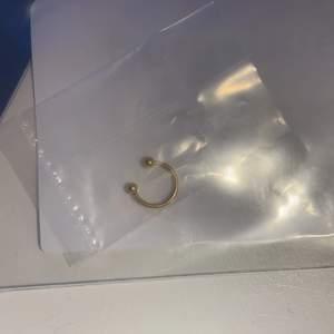 Snygg hästsko som är oöppnad och oanvänd. I kirurgiskt stål :) mått: 10 mm i diameter. 1,2 mm i trådtjocklek. Går att ha på alla ställen