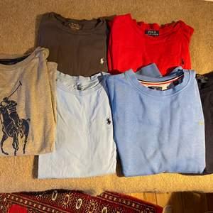 Långärmade Ralph Lauren tröjor storlek 14-16 år (L) 100kr styck                               Gant college tröja 170cm 100kr