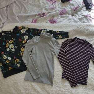 Kläd paket! 1 långärmad tröja och 2 ribbade långärmade tröjor för 70kr. Storlek s på alla