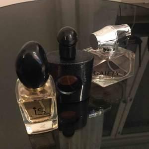 Helt nya parfymer. Alla tre för 100 kr De är inte äkta