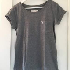 Vanlig grå all-round T-shirt från Abercromjbie & Fittch