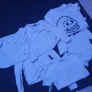 Olika tröjor från olika märken, storlek S på allt, säljs paket pris för ca 100kr eller styckvis 20 kr styck, eller så kan man komma med bud