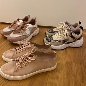 Alla skor för 150kr, vissa knappt använda andra något använda. Möts upp i Stockholm