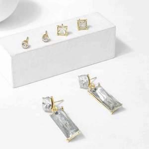 3 silver med guld detalj örhänge, inte kommit till användning. Priset är diskuterbar!
