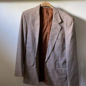 Blå, brun, beige mönster, vintage