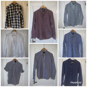 Diverse skjortor i märkena ralph lauren, g-Star, Oscar Jacobsson mm. Alla är small (herr storlek).