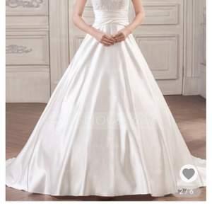 Vit bröllopsklänning, storlek L helt ny!