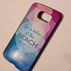 Mobilskal till Samsung galaxy S6, använt men inte skadat, gjord i mjukare plast, köpt i Spanien. Pris: 30kr men kan diskuteras