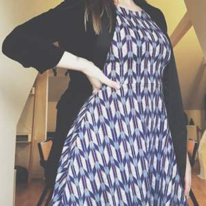 Blue patterned dress in cotton, size 36