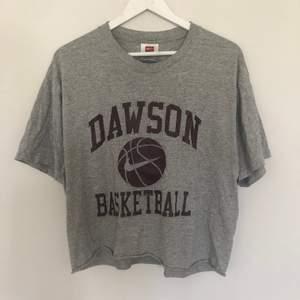 Vintage Nike Team T-shirt från Dawson Basketball. Tröjan är från tidiga 2000-talet och är i bra skick. Tishan har en cropped passform. Storlek large men passar som en Small.