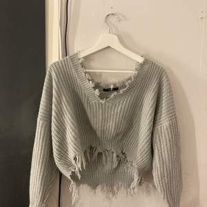 Superfin cropad stickad tröja från zaful size S, frakt ingår i priset