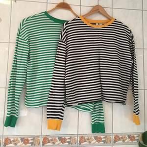 2 super fina randiga tröjor från Hm som är i jätte fint skick! 120kr för båda!💛💚