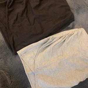 Två omlottkjolar en i grå och en i svart! 1 för 99kr och 2 för 149kr🧡