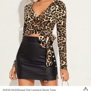 Helt oanvänd leopard topp från SHEIN.