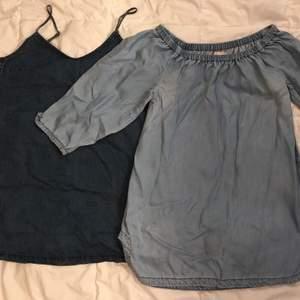 2 jeansklänningar köpta i Australien. Märke och storlek, från vänster: Longlost, 38 Billabong, 36  100kr/st eller båda för 160kr