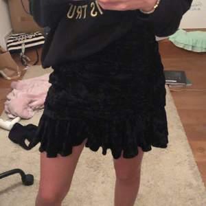 Jättefin sammetskjol från Zara i strl S💕 helt oanvänd och prislapp kvar